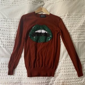Markus lupfer lips sweater top